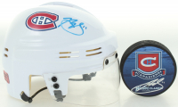 Lot of (2) Brendan Gallagher Signed Hockey Items with (1) Canadiens Logo Hockey Puck & (1) Canadiens Mini Hockey Helmet (Gallagher COA) at PristineAuction.com