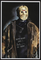 """Ari Lehman Signed Jason Voorhees - """"Friday the 13th"""" 13x19 Lithograph Inscribed """"Jason Never Dies!"""" & """"OG Jason"""" (PA COA) at PristineAuction.com"""