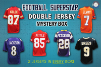 Schwartz Sports Football Superstar Signed DOUBLE Football Jersey Mystery Box - Series 2 - (Limited to 100)(2 Autographed Jerseys In Every Box!!) at PristineAuction.com