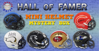 Schwartz Sports Football Hall of Famer Signed Mini Helmet Mystery Box – Series 10 (Limited to 100) at PristineAuction.com