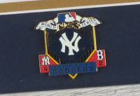 Mickey Mantle 13x16 Custom Framed Art Print Display with 1953 Yankees World Series Champions Pin at PristineAuction.com