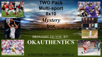 OKAUTHENTICS Two pack Multisport 8x10 Mystery Box (Series II) at PristineAuction.com