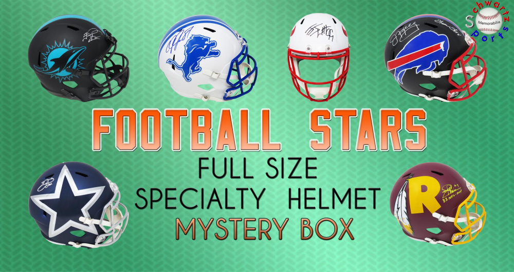 Schwartz Sports Football Superstar Signed Full Size Specialty Helmet Mystery Box – Series 5 (Limited to 75) at PristineAuction.com