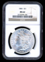 1885 $1 Morgan Silver Dollar (NGC MS62) at PristineAuction.com