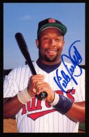 Kirby Puckett Signed Minnesota Twins 3.5x5.5 Photo Postcard (JSA COA) at PristineAuction.com