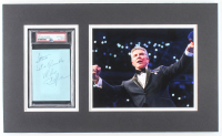 "Michael Buffer Signed 12x20 Custom Matted Cut Display Inscribed ""Let's Rumble"" (PSA Encapsulated) at PristineAuction.com"