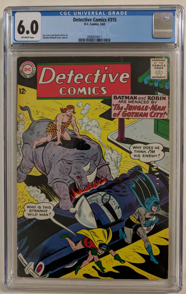 "1963 ""Detective Comics"" Issue #315 DC Comic Book (CGC 6.0) at PristineAuction.com"