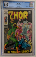 "1969 ""Thor"" Issue #167 Marvel Comic Book (CGC 6.0) at PristineAuction.com"