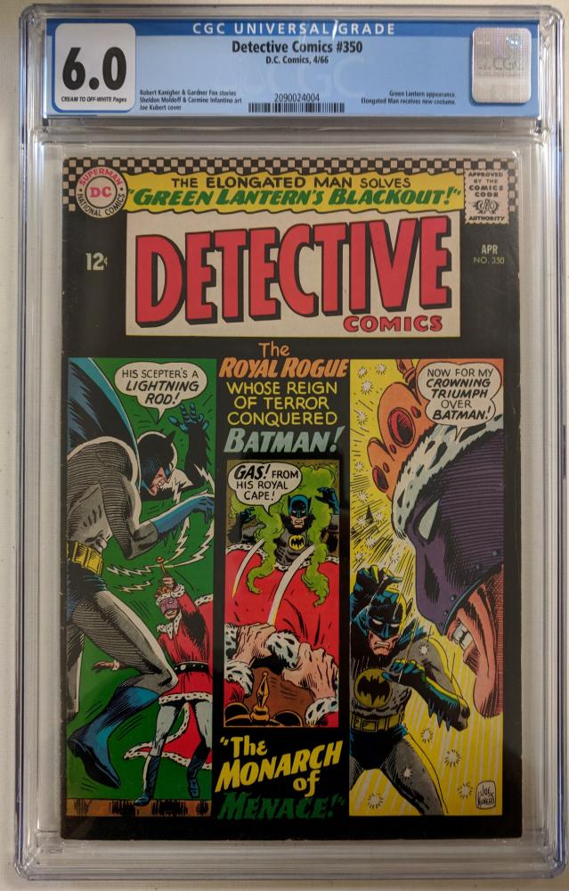"1966 ""Detective Comics"" Issue #350 DC Comic Book (CGC 6.0) at PristineAuction.com"