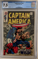 "1968 ""Captain America"" Issue #106 Marvel Comic Book (CGC 7.5) at PristineAuction.com"