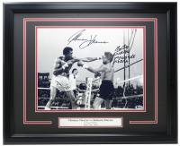 "Thomas Hearns & Roberto Duran Signed 16x20 Custom Framed Photo Inscribed ""Manos de Piedra"" (Beckett COA) at PristineAuction.com"
