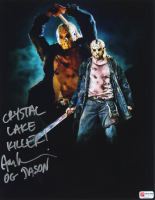 "Ari Lehman Signed ""Friday the 13th"" 11x14 Photo Inscribed ""Crystal Lake Killer!"" & ""OG Jason"" (PA COA) at PristineAuction.com"