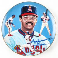 "Reggie Jackson Signed Angels Collectors Plate Inscribed ""Mr. October"" (JSA COA) at PristineAuction.com"