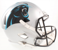 Yetur Gross-Matos Signed Panthers Full-Size Speed Helmet (Beckett COA) at PristineAuction.com