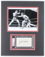 Jake LaMotta Signed 14x18 Custom Matted Cut Display (PSA Encapsulated) at PristineAuction.com