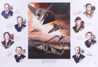 "LE ""The Spirit Of The Storm"" 18.75x28 Poster Signed By (8) with Chuck Horner, John Warden, Rhonda Cornum, Gregory Feest, Thomas Griffith, Guy Hunter, Paul Johnson, & Walter Kross (JSA COA) at PristineAuction.com"