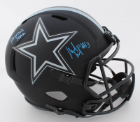 """Michael Gallup Signed Cowboys Eclipse Alternate Full-Size Speed Helmet Inscribed """"America's Team (JSA COA) at PristineAuction.com"""