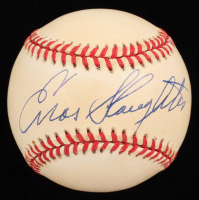 Enos Slaughter Signed ONL Baseball (Stacks of Plaques COA) at PristineAuction.com