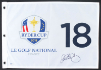Rory McIlroy Signed 2018 Ryder Cup Pin Flag (Beckett COA) at PristineAuction.com