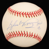 "Gaylord Perry Signed ONL Baseball Inscribed ""HOF 91"" (Stacks of Plaques COA) at PristineAuction.com"