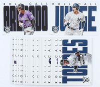 Complete Set of (30) 2020 Topps Big League Roll Call Oversized Baseball Cards with #RC-29 Aaron Judge, #RC-30 Nolan Arenado at PristineAuction.com