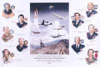 """Courage, Innovation, & Resiliency"" 18.75x28 Poster Signed By (10) with Guy Blurford, Ken Cordier, Michael D'Argenio, Charles Holland, Kelly Latimer, William Markham, Lori Robinson, William Schwerfeger (JSA COA) at PristineAuction.com"