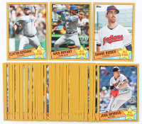 Set of (50) 2020 Topps '85 Topps All Stars Oversized Baseball Cards with #85AS-49 Clayton Kershaw, #85AS-50 Kris Bryant, #85AS-47 Shane Bieber at PristineAuction.com