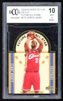 LeBron James 2003-04 Upper Deck SE Die Cut Future All-Stars #E15 RC (BCCG 10) at PristineAuction.com