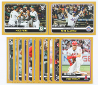 Lot of (15) 2020 Topps Big League Highlight Oversized Baseball Cards with #297 Mike Fiers, #287 Pete Alonso at PristineAuction.com