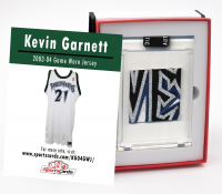 KEVIN GARNETT 2003-04 TIMBERWOLVES GAME WORN JERSEY MYSTERY SWATCH BOX! at PristineAuction.com