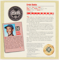 Ernie Banks Baseball Hall of Fame Commemorative Pure Silver Coin at PristineAuction.com