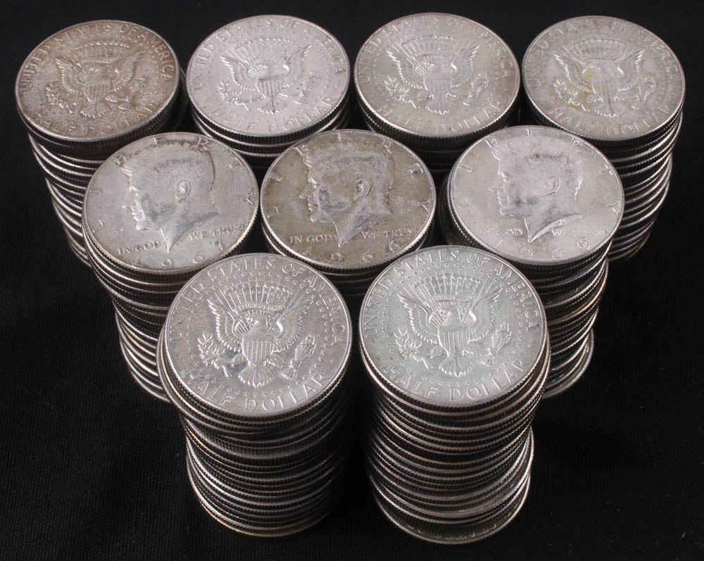 Lot of (200) Kennedy Half-Dollars at PristineAuction.com