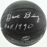 "Dave Bing Signed Black NBA Basketball Inscribed ""H.O.F. 1990"" (Schwartz Sports COA) at PristineAuction.com"