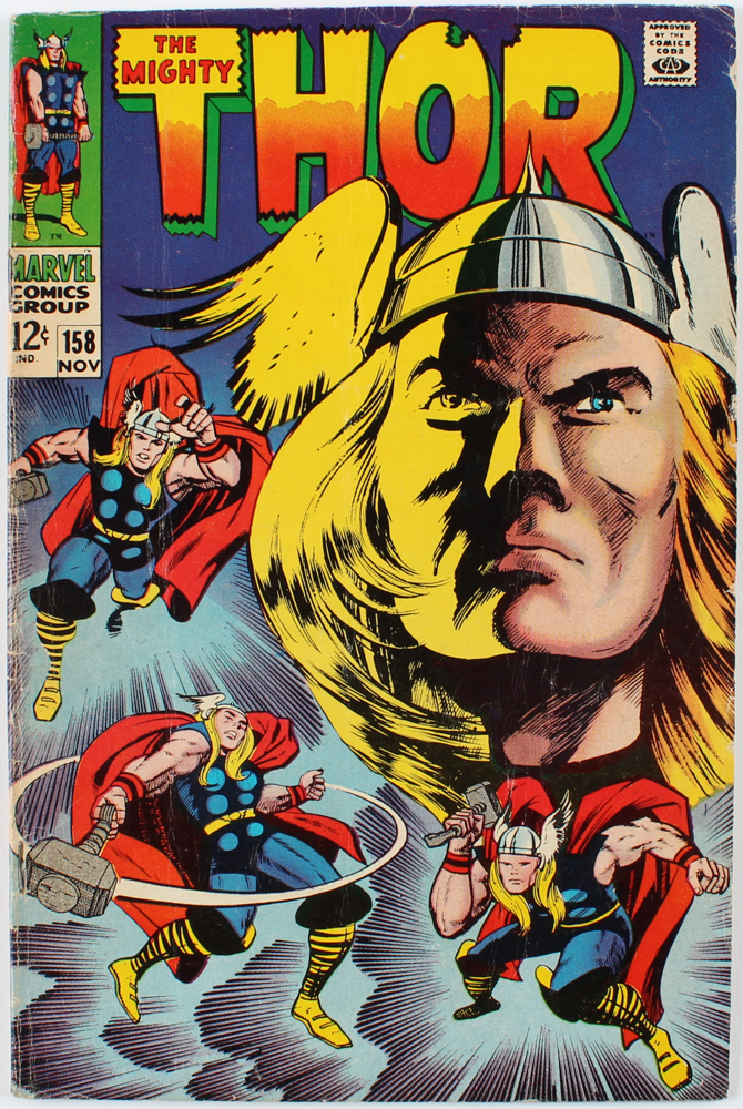 """Vintage 1977 """"Thor"""" Issue #158 Marvel Comic Book at PristineAuction.com"""