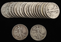 Lot of (20) Walking Liberty Silver Half Dollars at PristineAuction.com