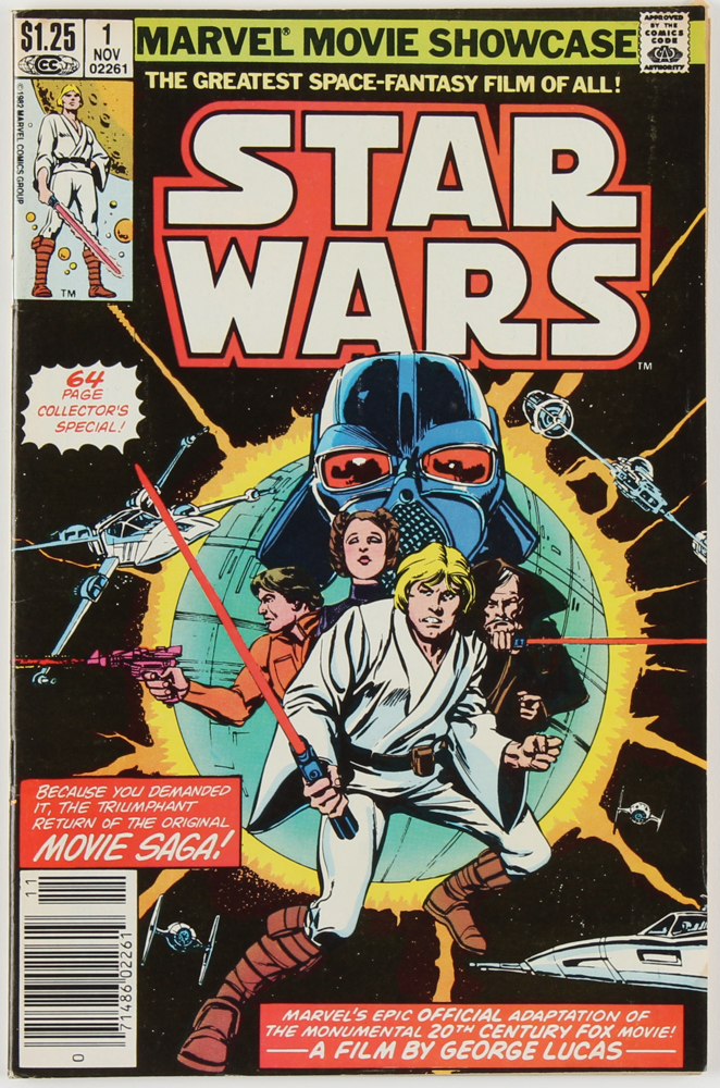 """1977 """"Star Wars"""" First Issue Marvel Comic Book at PristineAuction.com"""