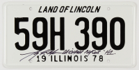 """Tony Moran Signed """"Halloween"""" Illinois License Plate Inscribed """"Michael Myers"""" & """"H1"""" (Beckett COA) at PristineAuction.com"""
