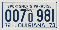 "Richard Dreyfuss Signed ""Jaws"" Louisiana License Plate (Legends COA) at PristineAuction.com"
