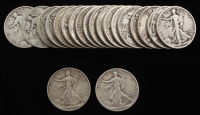 Lot of (20) Walking Liberty Silver Half Dollars at PristineAuction.com