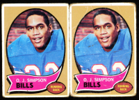 Lot of (2) O.J. Simpson 1970 Topps #90 RC at PristineAuction.com