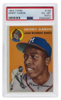 Hank Aaron 1954 Topps #128 RC (PSA 6) (OC) at PristineAuction.com