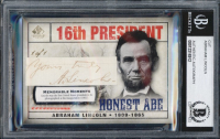 ABRAHAM LINCOLN HANDWRITTEN WORD OR SIGNATURE CARD MYSTERY BOX! at PristineAuction.com