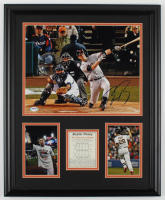 Buster Posey Signed Giants 22x27 Custom Framed Photo Display with Career Highlight Stat Card (PSA COA) at PristineAuction.com
