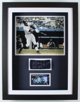 "Alex Rodriguez Signed Yankees 20x26x3.5 Custom Framed Game-Used Wrist Band Shadowbox Display Inscribed ""600 HR"" & ""8-4-10"" (Alex Rodriguez LOA) at PristineAuction.com"