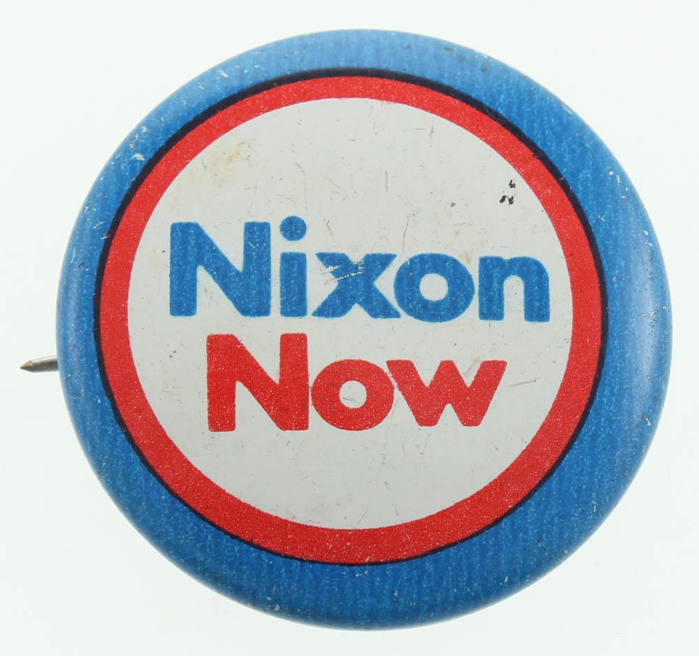 Vintage 1969 Richard Nixon Presidential Campaign Pin at PristineAuction.com