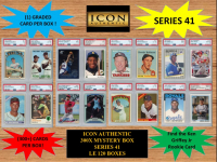 ICON AUTHENTIC 300X MYSTERY BOX SERIES 41 300+ Cards per Box at PristineAuction.com