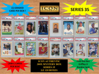 ICON AUTHENTIC 300X MYSTERY BOX SERIES 35 300+ Cards per Box at PristineAuction.com
