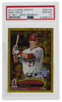 Mike Trout 2012 Topps Update Gold Sparkle #US144 (PSA 10) at PristineAuction.com