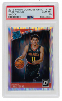 Trae Young 2018-19 Donruss Optic Shock #198 RR RC (PSA 10) at PristineAuction.com