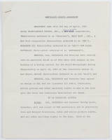 Muhammad Ali & Floyd Patterson Signed Ancillary Rights Agreement 8x11 Document (PSA LOA) at PristineAuction.com